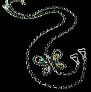 Bra Straps - Single Line w/ Butterfly Charm - Black