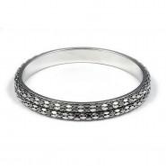 Bangle Bracelets - Metal Mesh - Silver - BR-80995