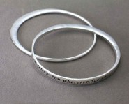 Religious Bangle - 2-PC Set - Matthew 8:9 - Lead Compliant - BR-B9123LATS