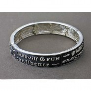 Religious Stretchable Bracelet - Epoxy - Messages - Lead Complia - BR-B9156LSJET