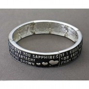 Religious Stretchable Bracelet - Epoxy - Lord's Prayer - Lead Compliant - BR-B9159LSJET