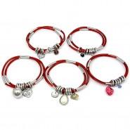Charm Bracelets Assortment Set - BR-HB016B-SI