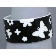 Overlayer Butterfly Bangle - Acrylic - Black - BR-OB00150BLK