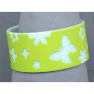 Overlayer Butterfly Bangle - Acrylic - Lime Color- BR-OB00150LIM
