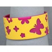 Overlayer Butterfly Bangle - Acrylic - Yellow Color - BR-OB00150YEL