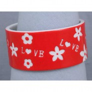Overlayer Love Bangle - Acrylic - Red Color - BR-OB00153RED