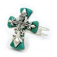 Hinge Bracelets - Cross Charm - BR-OB2154TQS