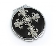 Pocket Mirror - Rhinestone Cross Charm -MR-GM1013BK