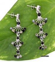 Crystal Earrings  - Black - ER-13355BK