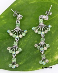 Crystal Earrings  - Green - ER-13355GN