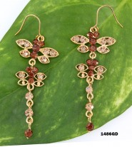 Swarovski Crystal Butterfly Earrings - ER-1486GD