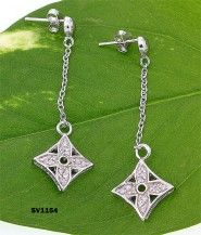 925 Sterling Silver/ Designer Inspired Earring Set - ER-SV1154CL