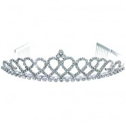 Tiara w/ Side Comb - Clear Crystal Stones
