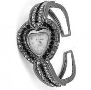 Lady Watch - w/ Rhinestone Heart Face - Gun - WT-L80521GUN